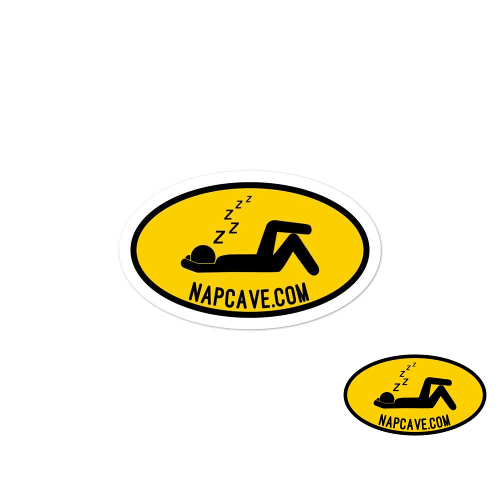 To The Nap Cave Sign Bubble-free stickers 3x3 The NapCave To The Nap Cave Sign Bubble-free stickers Being Unique is better than Being