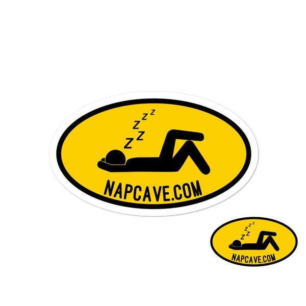 To The Nap Cave Sign Bubble-free stickers 4x4 The NapCave To The Nap Cave Sign Bubble-free stickers Being Unique is better than Being