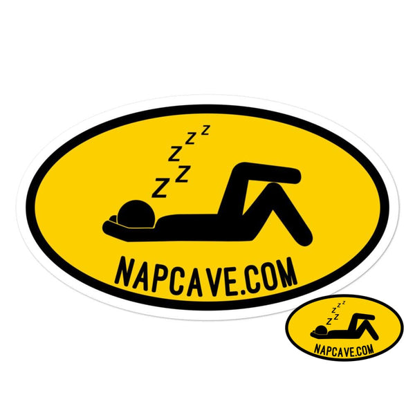 To The Nap Cave Sign Bubble-free stickers 5.5x5.5 The NapCave To The Nap Cave Sign Bubble-free stickers Being Unique is better than Being