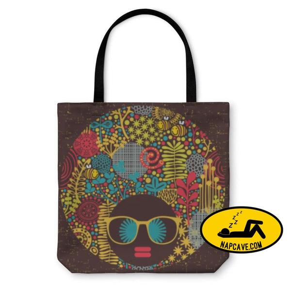 Tote Bag Black Head Woman With Strange Pattern On Her Hair Tote Bag Gear New Tote Bag Black Head Woman With Strange Pattern On Her Hair