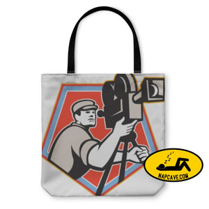 Tote Bag Cameraman Vintage Film Reel Camera Retro Tote Bag Gear New Tote Bag Cameraman Vintage Film Reel Camera Retro backpack bag beach