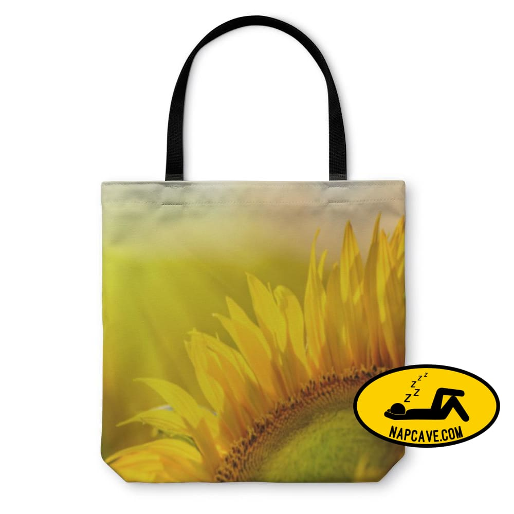 Tote Bag Golden Sunflower In The Field Backlit By The Rays Of The Setting Tote Bag Gear New Tote Bag Golden Sunflower In The Field Backlit