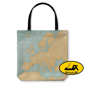 Tote Bag Map Of Europe Andorra Vintage Series Tote Bag Gear New Tote Bag Map Of Europe Andorra Vintage Series backpack bag beach borderline