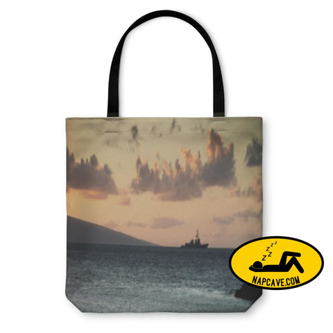 Tote Bag Us Navy Ship At Sunset Tote Bag Gear New Tote Bag Us Navy Ship At Sunset backpack bag battle battleshp beach