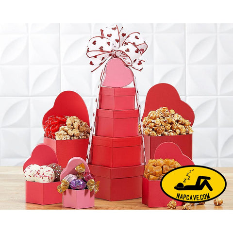 Tower of Hearts Gift Basket By Wine Country Gift Baskets Gift Basket Wine Country Gift Baskets Tower of Hearts Gift Basket By Wine Country