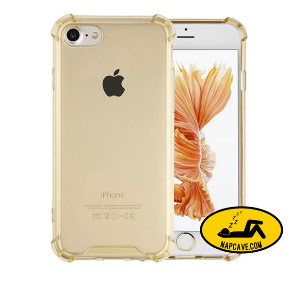 Transparent Cover For Iphone 7 6 6s Plus Gold / For Iphone 6 6s Nap Cave Transparent Cover For Iphone 7 6 6s Plus