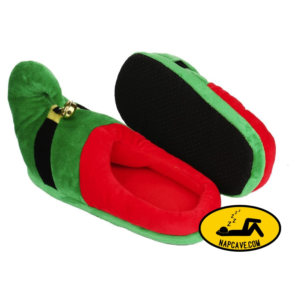 Unisex Plush Cotton Home Slippers Winter Warm Indoor Christmas Slippers Shoes Green / L Nap Cave Unisex Plush Cotton Home Slippers Winter