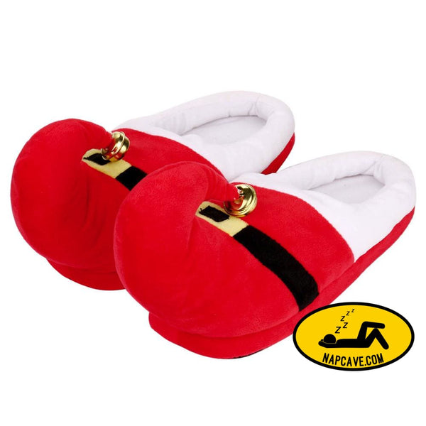 Unisex Plush Cotton Home Slippers Winter Warm Indoor Christmas Slippers Shoes Red / L Nap Cave Unisex Plush Cotton Home Slippers Winter Warm