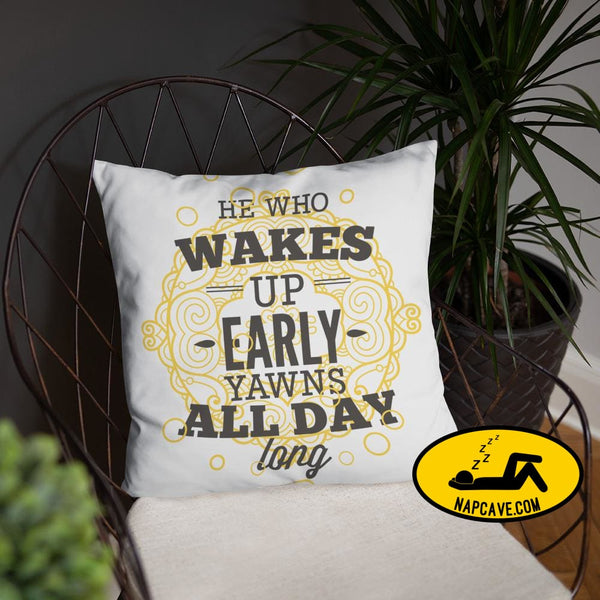 Wake Up Early Yawn All Day The NapCave Wake Up Early Yawn All Day awareness early flare late napcave