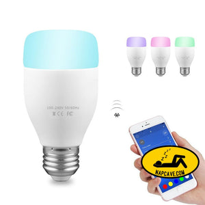 WiFi Smart Bulb 6W E27 RGBW LED Light Support Remote Control / E* Voice Control Nap Cave WiFi Smart Bulb 6W E27 RGBW LED Light Support