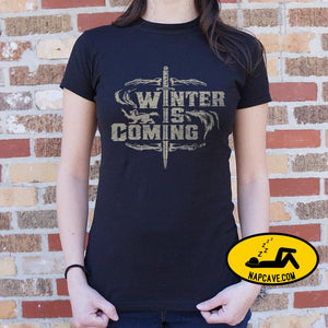 Winter Is Coming T-Shirt (Ladies) Ladies T-Shirt US Drop Ship Winter Is Coming T-Shirt (Ladies) fantasy graphic literary movie tank