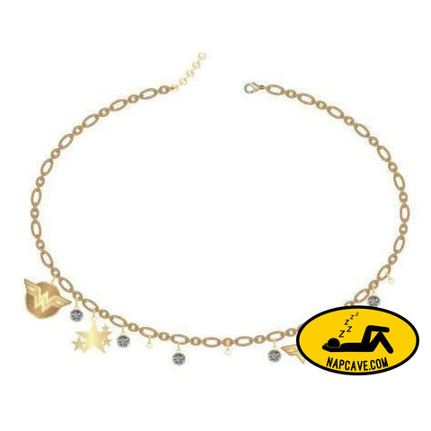Wonder Woman Delicate Choker Jewelry DC Comics Mxed Wonder Woman Delicate Choker chained necklace DC Comics gift mxed NapCave
