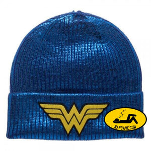 Wonder Woman Metallic Coated Beanie Wonder Woman Wonder Woman Metallic Coated Beanie mxed Wonder Woman