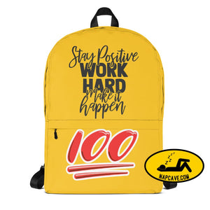 Work hard and make it Happen Backpack Bag Backpack The NapCave Work hard and make it Happen Backpack back to achool Backpack bag knasacks