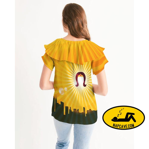 ww Womens Short Sleeve Chiffon Top Shirt The NapCave ww Womens Short Sleeve Chiffon Top gifts for her shirt skyline superhero womens