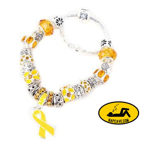 Yellow Ribbon Awareness Bracelet Jewelry AliExp Yellow Ribbon Awareness Bracelet awareness bracelet cancer childhood cancer awareness