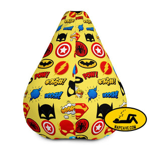 You are a Superhero All-Over Print Bean Bag Chair w/ filling Bean Bag The NapCave You are a Superhero All-Over Print Bean Bag Chair w/
