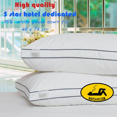 Zero Pressure Memory Pillow Neck Health textile 80% goose down pillow body / Sleeping / hotel pillows for sleeping bed pillows The NapCave