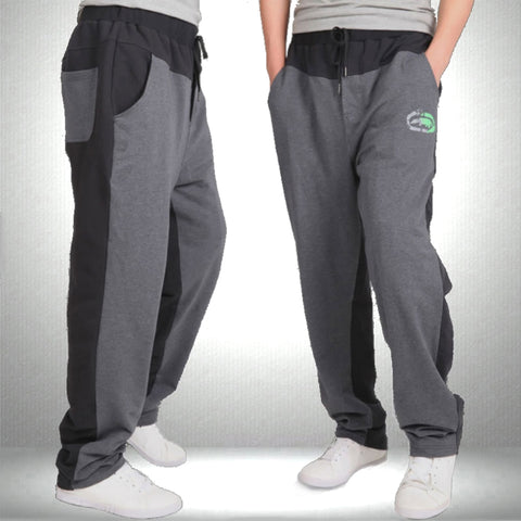 Big size 7XL - XS casual male straight thin health loose trousers: pants available in 2 colors