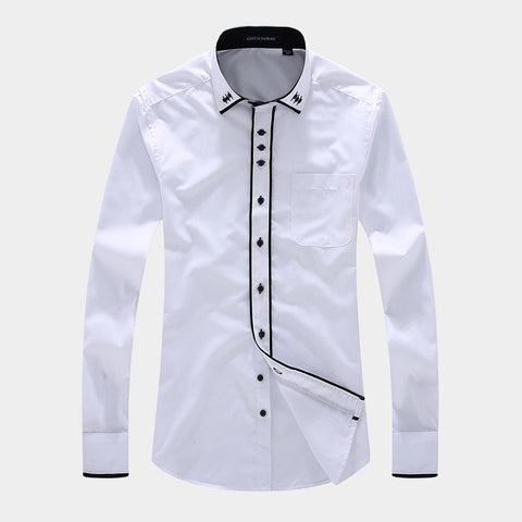 Business Striped Shirt (White)