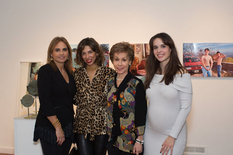 Picture of Gladys Sanmiguel, Minister Counselor of the Embassy of Colombia; jewelry designer Paula Mendoza; Gloria Ritter the Reyes, wife of the Ambassador of Colombia to the United States; and NOVA BOSSA Founder and CEO Carolina Furukrona.
