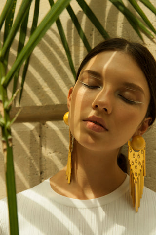 Paula Mendoza Uitoto earrings to be featured at NOVA BOSSA's Trunk Show, November 18th