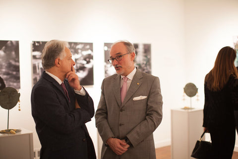 Picture of H.E. Andrés González Días, Permanent Representative of Colombia to the Organization of American States and Pablo Zuñiga, Director of the AMA l Art Museum of the Americas.