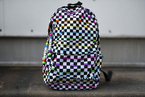 Neon checker backpack