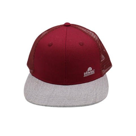 Maroon + Gray Trucker