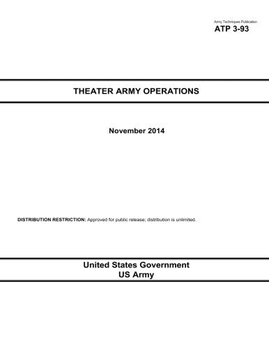 Army Techniques Publication ATP 3-93 Theater Army Operations November 2014