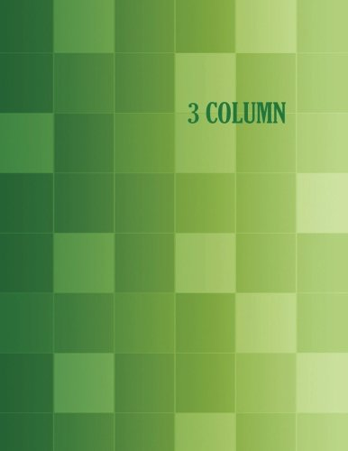 3 Column: Columnar Ruled Ledger, 8.5x11 Inches, 80 Pages