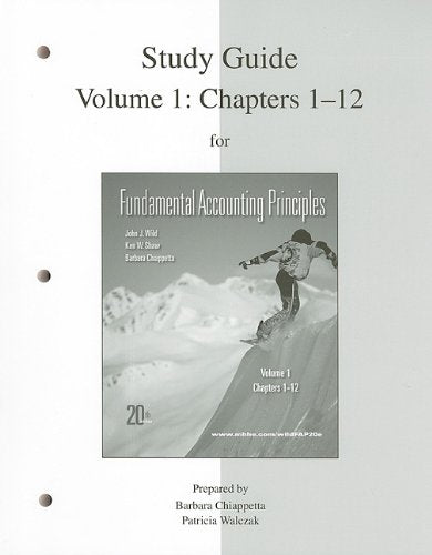 Study Guide Vol 1 for FAP Volume 1 (CH 1-12)