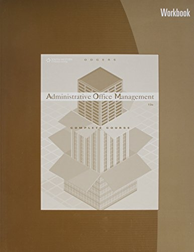 Administrative Office Management Workbook