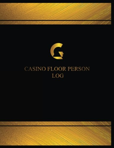 Casino Floor Person Log (Log Book, Journal - 125 pgs, 8.5 X 11 inches): Casino Floor Person Logbook (Black  cover, X-Large) (Centurion Logbooks/Re