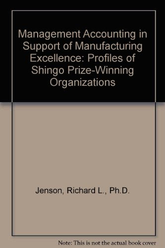 Management Accounting in Support of Manufacturing Excellence: Profiles of Shingo Prize-Winning Organizations
