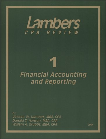 CPA Exam 2004: Financial Accounting and Reporting
