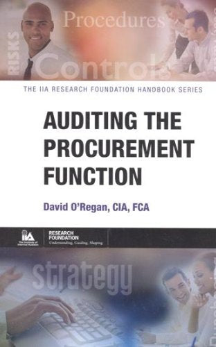 Auditing the Procurement Function (The Iia Research Foundation Handbook Series)