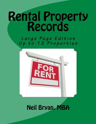 Rental Property Records Book - Larger Edition