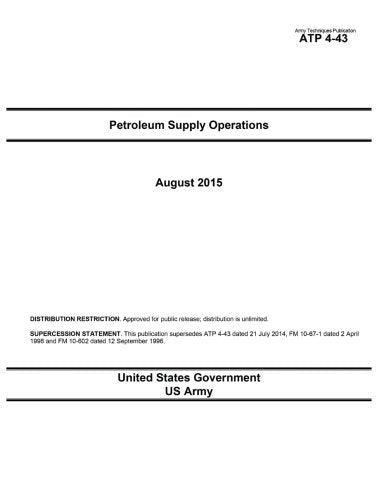 Army Techniques Publication ATP 4-43 Petroleum Supply Operations August 2015