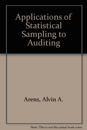 Applications of Statistical Sampling to Auditing