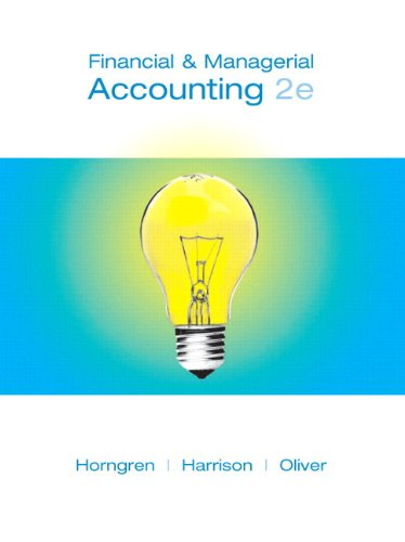 Financial and Managerial Accounting, 1-23 & MyAccountingLab with Full E-Book Student Access Code (2nd Edition)