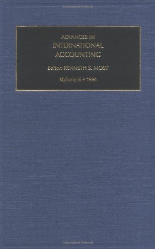Advances in International Accounting, Volume 6