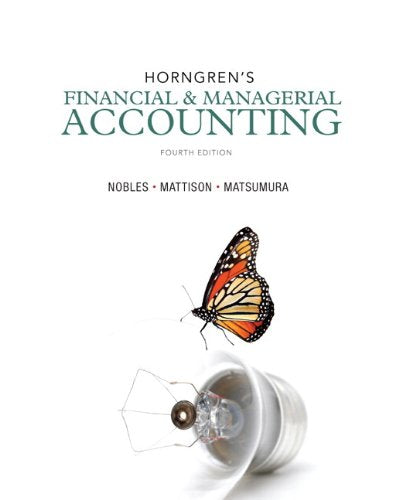 Horngren's Financial & Managerial Accounting, The Financial Chapters and NEW MyAccountingLab with Pearson eText -- Access Card Package (4th Editio