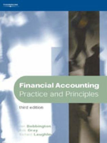 Financial Accounting: Practice and Principles