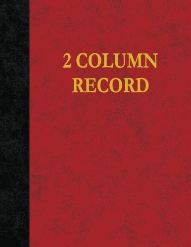 2 Column Record: 100 Page Account Book