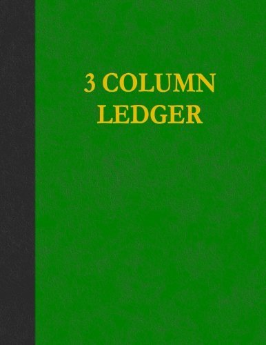 3 Column Ledger: 200 Pages