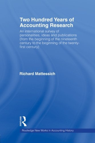 Two Hundred Years of Accounting Research (Routledge New Works in Accounting History)