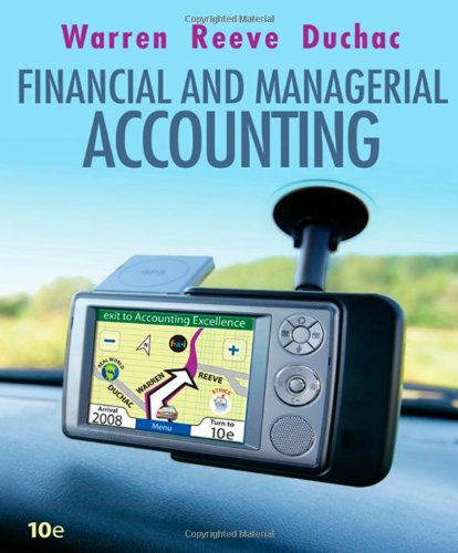 Financial & Managerial Accounting (Available Titles CengageNOW)
