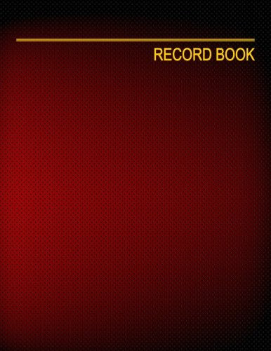 "Record Book: 4 Columns, 8.5x11"", 128 Pages"