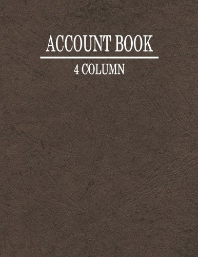 4 Column Account Book